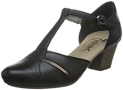 Rieker 女 低跟鞋 45054-00 黑色/黑色/00 39 (UK 6)(亚马逊进口直采,德国品牌)