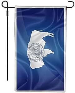 Rikki Knight 怀俄明州国旗设计装饰房或花园旗,30.48 x 45.72 厘米,全出血