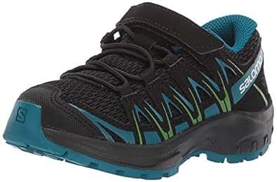Salomon 男女皆宜的儿童 XA Pro 3D J 跑步鞋,合成/织物 Schwarz (Black/Deep Lagoon/Onlime Lime) 29 EU