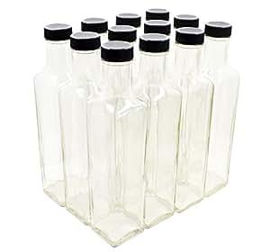 Clear Glass Quadra 奶瓶,250毫升(8.5 液体盎司) 透明 Case of 12 1