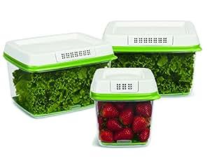 Rubbermaid FreshWorks Produce Saver 3-piece Set