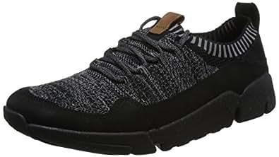 Clarks 男士 Triactive 针织运动鞋 黑色 42.5 EU