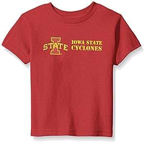 Two Feet Ahead NCAA 爱荷华州立大学儿童中性款短袖 T 恤,5\6,深红色