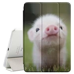 STPlus 可爱小猪动物智能保护套 带后盖 + 自动*/唤醒功能 + 苹果 iPad 2017 支架(9.7 英寸) 9.7 Inch