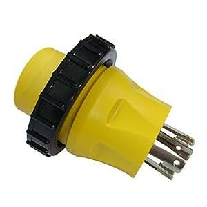 Parkworld 885316 适配器发生器 30A L14-30P 公对房车岸上功率 30A L5-30R 母带锁环