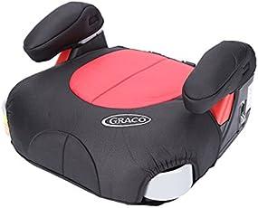 美国Graco 葛莱 宝贝成长精英系列 增高垫 两段扶手调节 红黑色 适合4-12岁 8E199LION