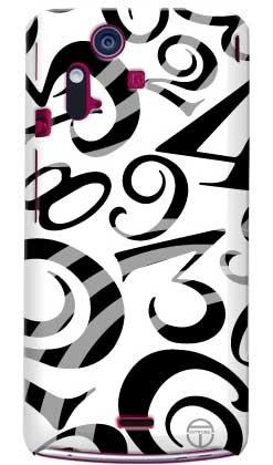 商品coverfull おしゃれな数字 白×黒 design by artwork / for图片
