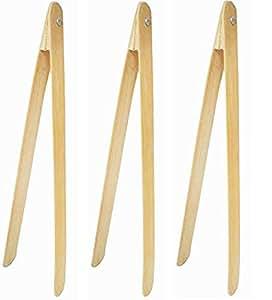 """Bamboo 烤面钳,带铆接头部(3 件) 竹子色 12"""" 43217-34767"""