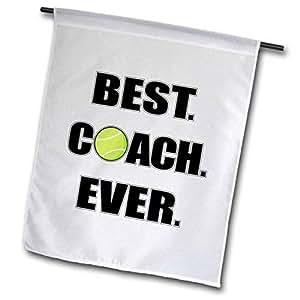 3dRose fl_195232_2 网球*佳教练花园旗,45.72 x 68.58cm