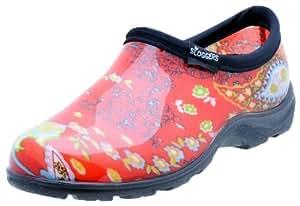 Sloggers 女士防水雨花园鞋舒适鞋垫 8 5104RD08