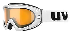 【德国生产 原装进口】UVEX 优维斯 Medium 中号镜框系列 中性 滑雪眼镜 uvex cevron S5500360129 亚光白色 M30mm