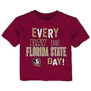 NCAA 佛罗里达州立大学学步儿童日常短袖 T 恤,4T,石榴石