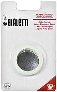 Bialetti 06963 Moka 1 杯垫/过滤器替换零件 白色 3-Cup 06960