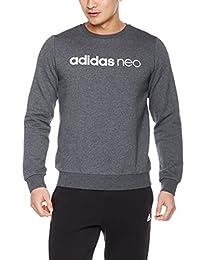 adidas NEO 阿迪达斯运动生活 男式 套头衫 CD3326 深麻灰/白 175/96A
