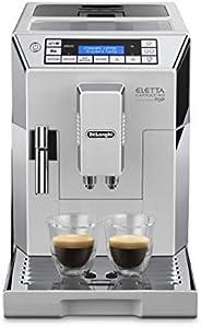 De'Longhi 德龍 Eletta Cappuccino Top 全自動咖啡機 ECAM 45.760.W/15 bar壓力萃取/1450 W/1.8L大容量水箱(德版英版隨機發貨,英版需轉