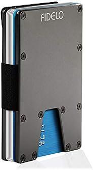 "FIDELO 男士极简钱包 - 超薄 RFID 信用卡夹钱夹  ""SOLO"" Wallet / Titanium (Genuine"