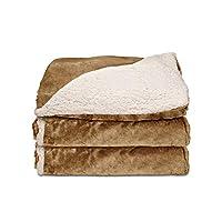 Sunbeam 双面羊绒/貂毛毯 蜂蜜色 50 x 60 TRT8WR-R230-25A00