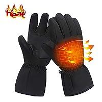 LEWOTE 电加热手套,冬季电池电热手套[滑雪自行车摩托车暖手配件男式女式]