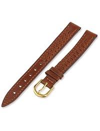 Voguestrap TX416091 Allstrap 11 毫米棕色常规长度真皮-编织表带