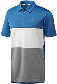 adidas 阿迪达斯男式橄榄色拼色高尔夫球衫
