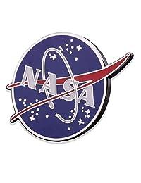 NASA 标志珐琅翻领别针 - 大型 NASA 帽别针 - 硬珐琅国家航空和空间管理别针官方标志 - 退伍军人所有公司!