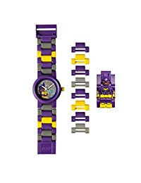LEGO 乐高 蝙蝠侠大电影 蝙蝠女小人儿童积木手表 | 紫色/黄色 | 塑料 | 28毫米表壳 | 模拟指针显示石英机芯 | 男孩 女孩 | 官方