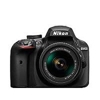 Nikon 尼康 D3400 单反套机(AF-P DX 18-55mm f/3.5-5.6G VR 防抖镜头)黑色 (D3300升级版)