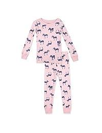Zutano 婴幼儿女童两件套无脚睡衣,*棉,适合贴身睡衣