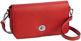 Sanis Enterprises 5.25 英寸高 x 9 英寸宽 x 2 英寸长 红色斜挎包 带射频识别电路口袋