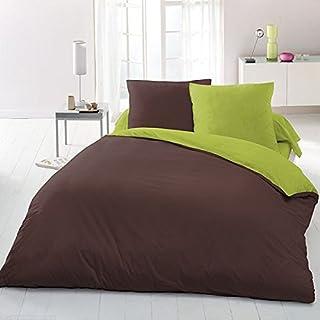 Home Passion 61202 超细纤维羽绒被 3 件套 炭灰色/绿色 240 x 220