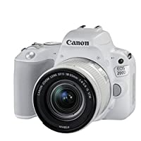 Canon佳能 EOS 200D入门单反相机 女生时尚自拍相机 2017年新款 (搭配18-55mm)附送防丢绳+贴膜+UV保护镜 (白色)
