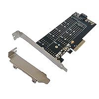 Tenext M.2 PCIe 3.0 x4(M-Key)和 SATA III(B-Key)到 PCI Express 3.0 x4 适配器卡