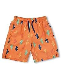 INGEAR 男童速干沙滩沙滩裤泳裤泳裤沙滩短裤带网布衬里