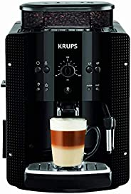 Krups 克鲁伯 EA8108 全自动咖啡机(自动清洁 / 2杯功能 / CappucinoPlus 奶喷嘴系统 / 15 bar / 可制 Espresso),黑色