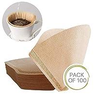 100 件尺寸 2 特别 102 咖啡滤纸一次性天然未漂白原木滴滤纸适合咖啡机和咖啡锥