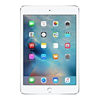 """新款 Apple iPad Mini 4 带 7.9"""" Retina 显示屏,128GB SSD,2GB 内存,双核 A8 芯片,四核显卡,Wi-Fi,MIMO,蓝牙 银色 128GB"""