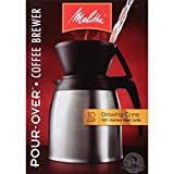 Melitta 咖啡机,单杯 Pour-Over Brewer 带旅行杯(2 件装) 10 Cup Cone with Steel Carafe 1包