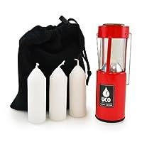 UCO 原装烛光超值套件包,带3支蜡烛和储物袋,红色