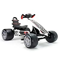 INJUSA Go Kart Mercedes,适合 2 岁以上儿童,带可调节马鞍和踏板,多色(4122)