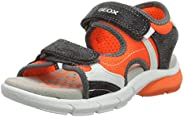 Geox 男童 J 涼鞋 Flexyper 露趾涼鞋