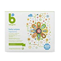 Babyganics Face, Hand & Baby Wipes, Fragrance Free 100 count (Pack of 4) 400