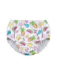 i play。 女童可重复使用的拉提游泳尿布