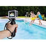 Rollei Actioncam 540 - 具有4k视频分辨率和广角镜头的无线WiFi 运动相机,2英寸LCD显示屏,循环,延时,慢动作功能,16 MP照片功能,防水深度达40米,包括水下保护外壳和游泳手柄