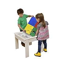 Liberty HOUSE 玩具活动桌,带双面上衣,木,白色