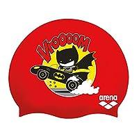 Arena WB *英雄硅胶青少年泳帽,蝙蝠侠