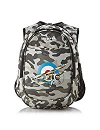 Obersee Kid's All-in-One Pre-School Backpacks with Integrated Cooler, Camo Airplane