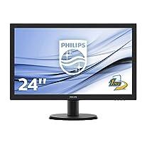 飞利浦243 v5lhsb5 / 00 59厘米 ( 23.6英寸 ) 显示器 ( VGA , DVI , HDMI , 1 MS 响应时间 , 1920 x 1080 ) 黑色
