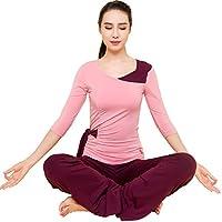 PIERYOGA 皮尔瑜伽 女式 拼肩蝴蝶腰瑜伽服套装 43488MF+31802MJ