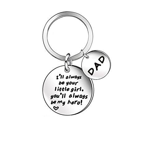 Niceter Dad 父亲爸配饰汽车钥匙链环标签钥匙扣不锈钢珠宝
