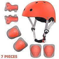 2 - 8 岁幼儿头盔和护垫,可调节儿童自行车头盔膝盖护肘和护腕,用于滑板滚轮滑板车骑行滑冰等